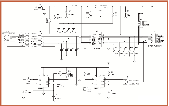 Speed Control Of Stepper Motor Circuit Diagram