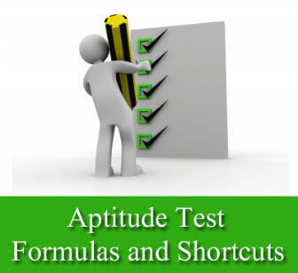 Aptitude Questions, Test Formulas